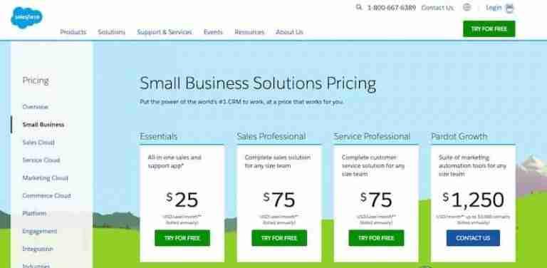 Salesforce Pricing Plans