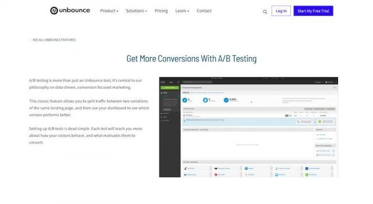 unbounce-a-b-testing-tool