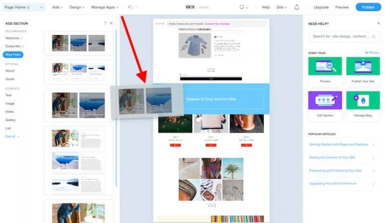 wix-drag-and-drop-editor