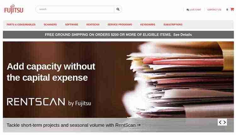 Fujitsu-Home-Page