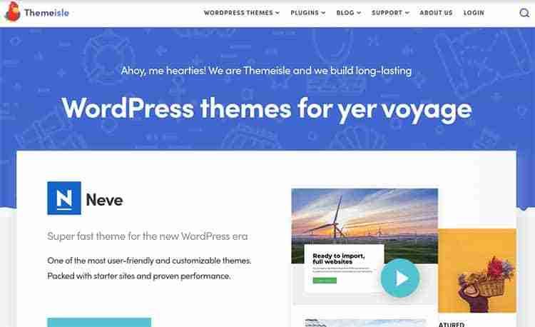 Themeisle-Homepage