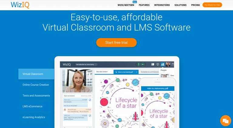 LMS Software WizIQ