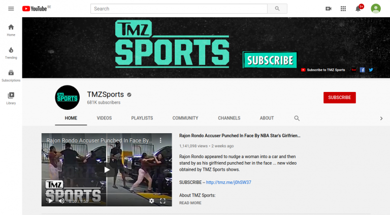 YouTube TMZSports